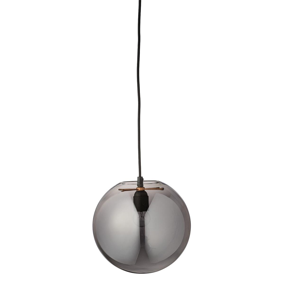 Bloomingville Glass Ball rökgrå 25cm
